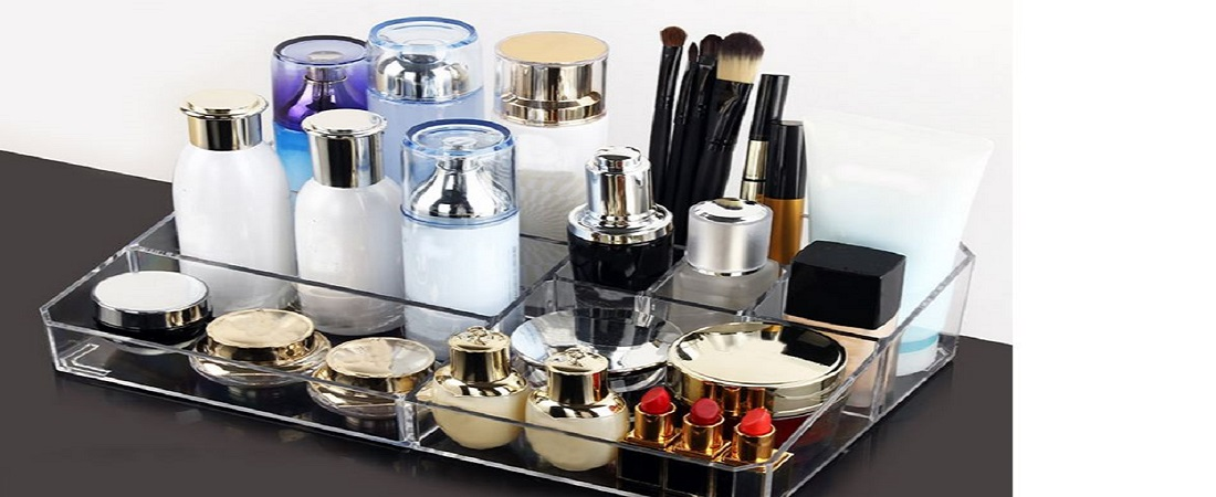 Clear Acrylic Cosmetic Organizer Makeup Tool Container Holder