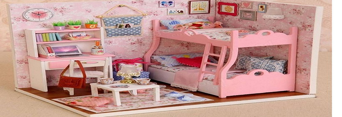 Diy Miniature Wooden Doll House For Children